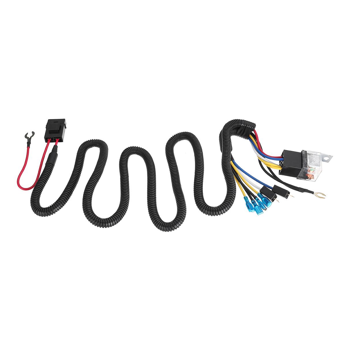 12 24v 100cm Horn Wiring Harness Relay Kit Double Speaker