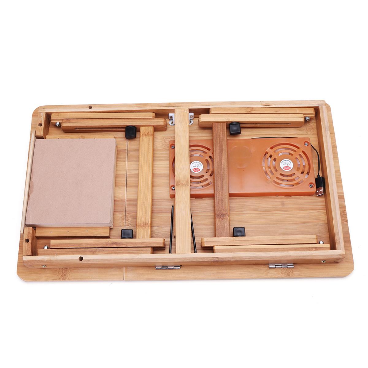 Portable Folding Lap Desk Bamboo Laptop Breakfast Tray Bed Table Stand Fan Alexnld Com