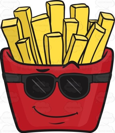 Cool-Looking Red Pack Of French Fries Emoji