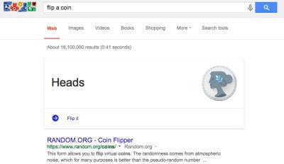 flip a coin on google