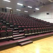 An empty auditorium at Breadalbane Academy 15 mins before I was about to perform