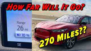 Can It Go 270? | 2021 Ford Mustang Mach E Range Test