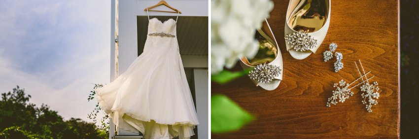 bridal gown and details