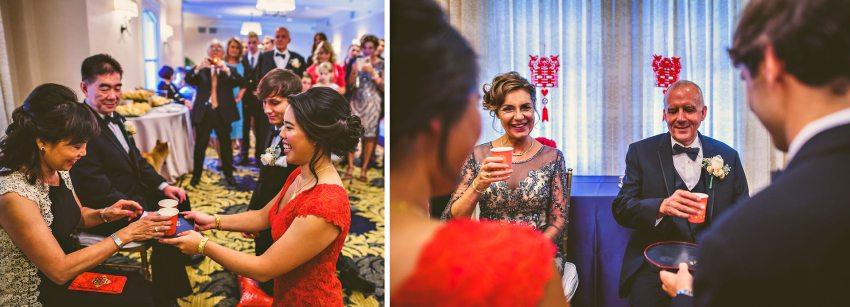 Chinese wedding tea ceremony in Lenox Hotel