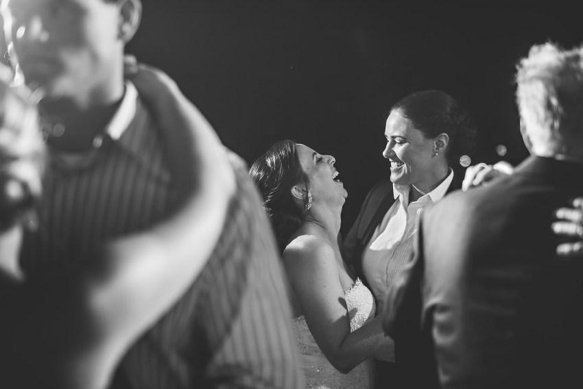 bride and bride dancing