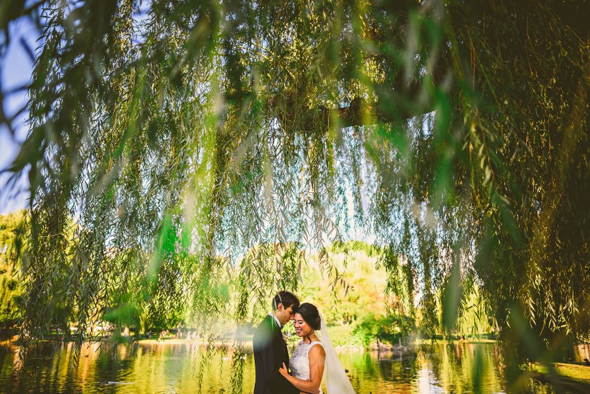 Intimate downtown Boston wedding portrait