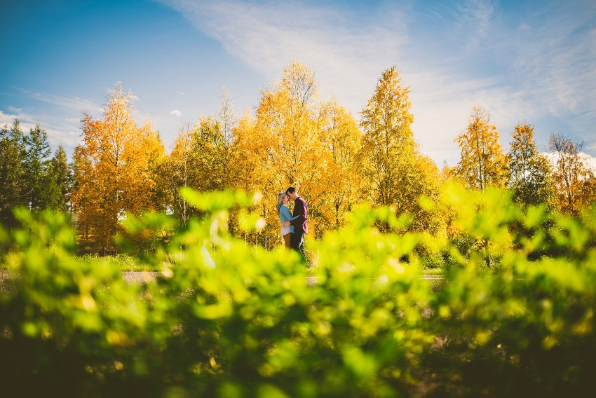 autumnal Iceland engagement adventure