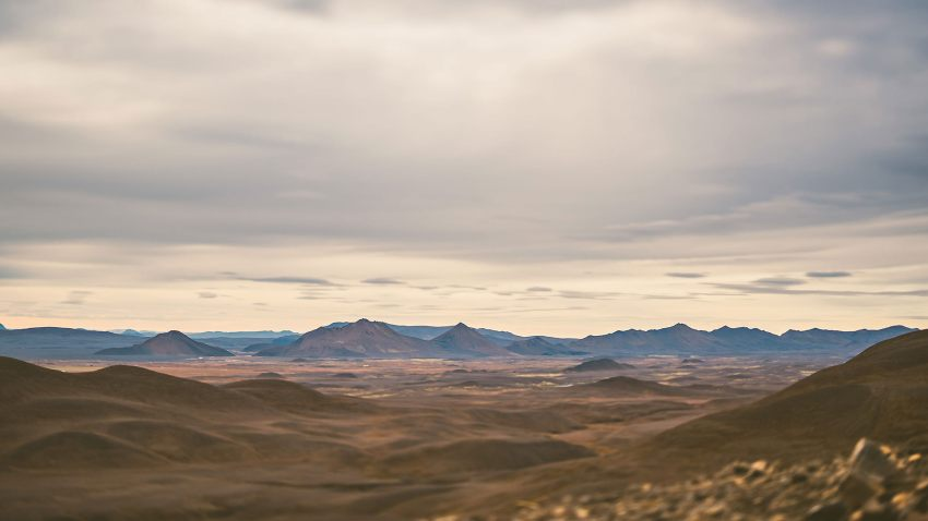 Icelandic landscapes near Möðrudalur