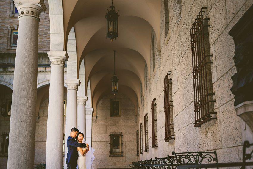 BPL courtyard wedding portrait