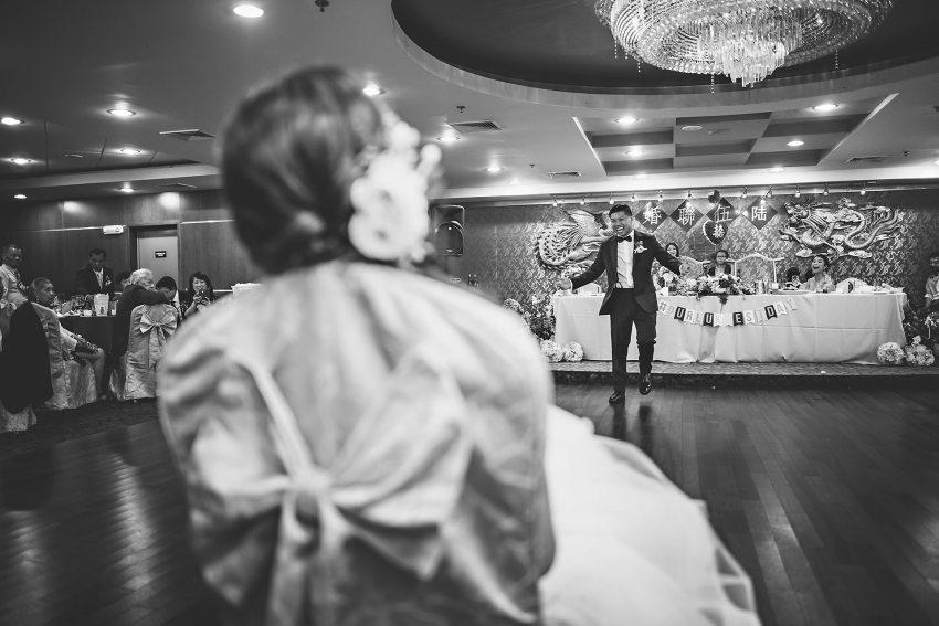 Chinese restaurant wedding reception
