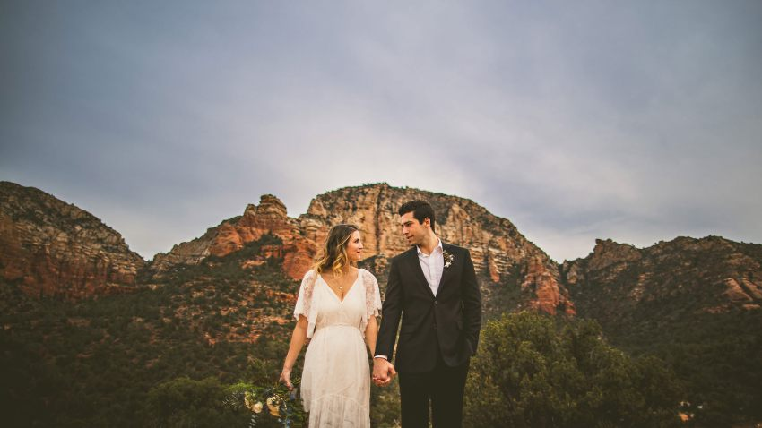 Sedona elopement photos