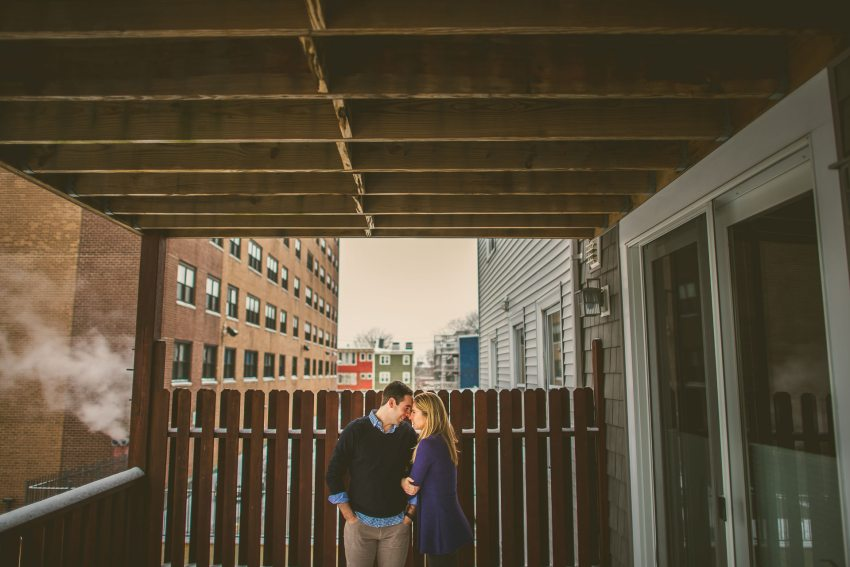Engagement photos in Southie
