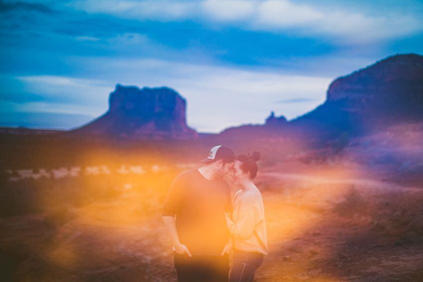 Utah wedding photographers with Sedona sunset