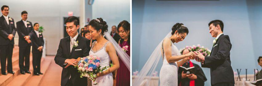 Emotional church wedding ceremony