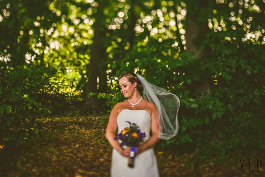 Romantic Rhode Island bridal portrait