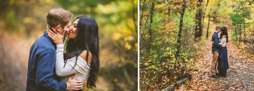 Autumnal engagement portraits