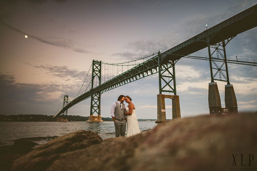 Mount Hope Bridge wedding photos