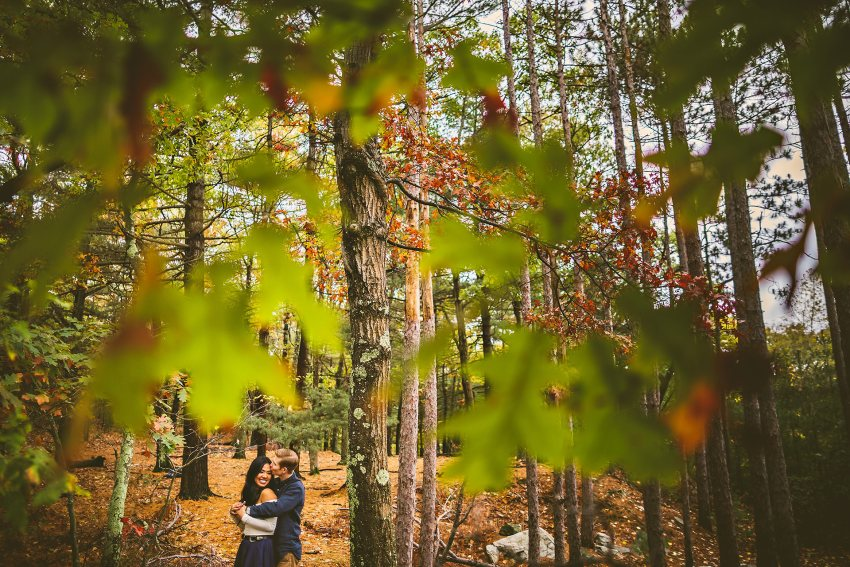 Middlesex Fells trail engagement session