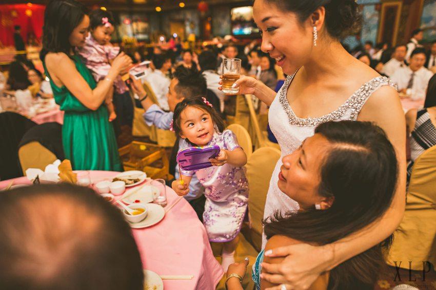 Empire Garden wedding reception guests