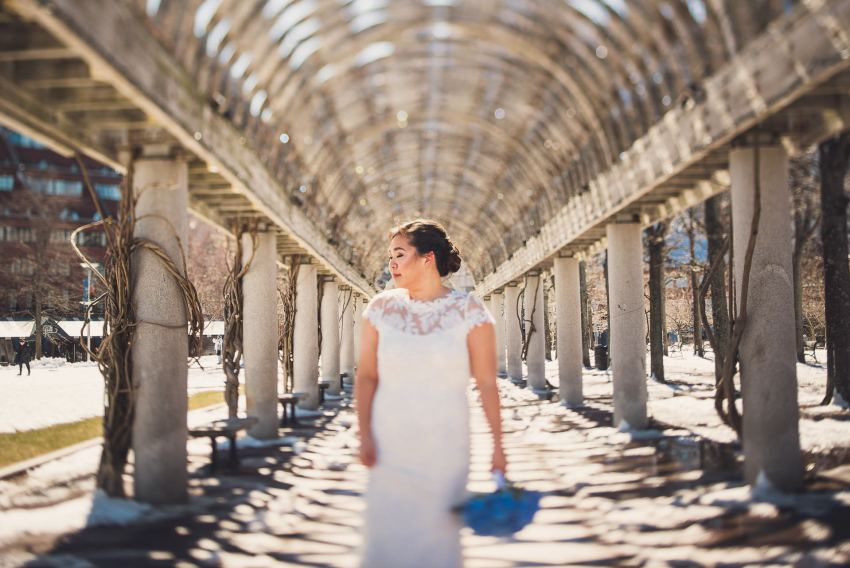 Chris Columbus Park bridal portrait