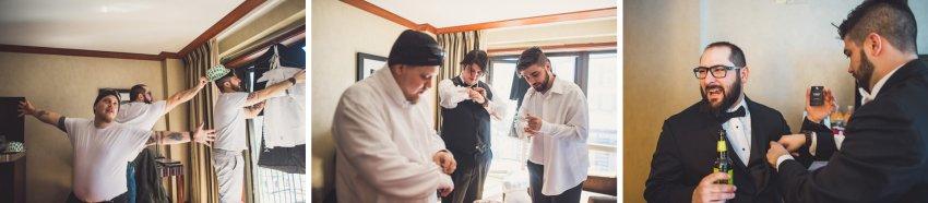 Groomsmen preparation in Boston