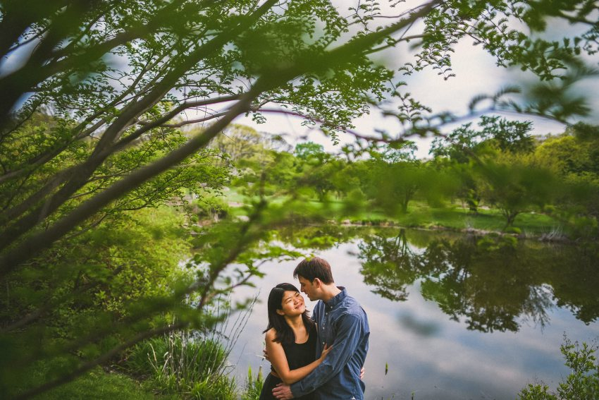 Arnold Arboretum engagement portraiture