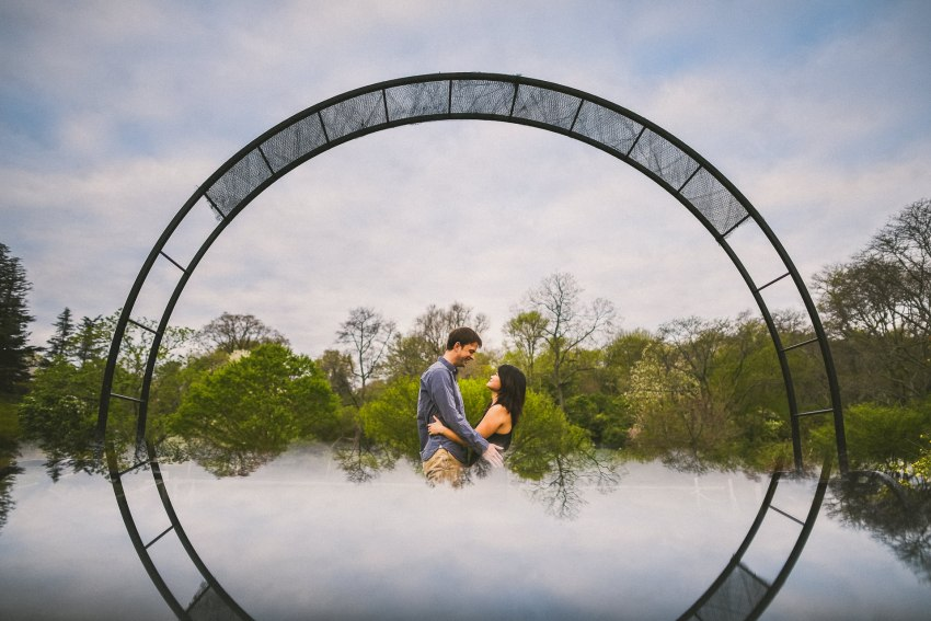 Sunrise engagement session at the Arboretum