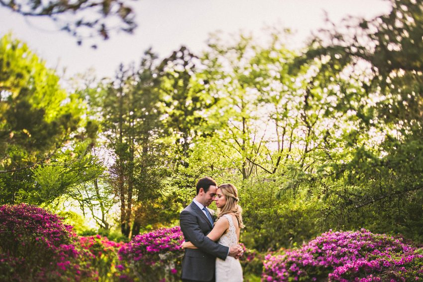 Wedding portraits in Japanese garden