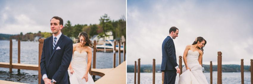 Laconia wedding first look