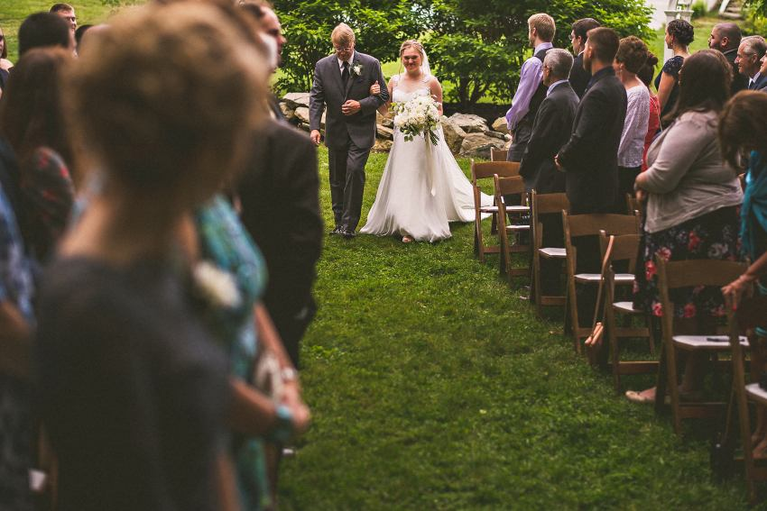 Western Massachusetts wedding processional
