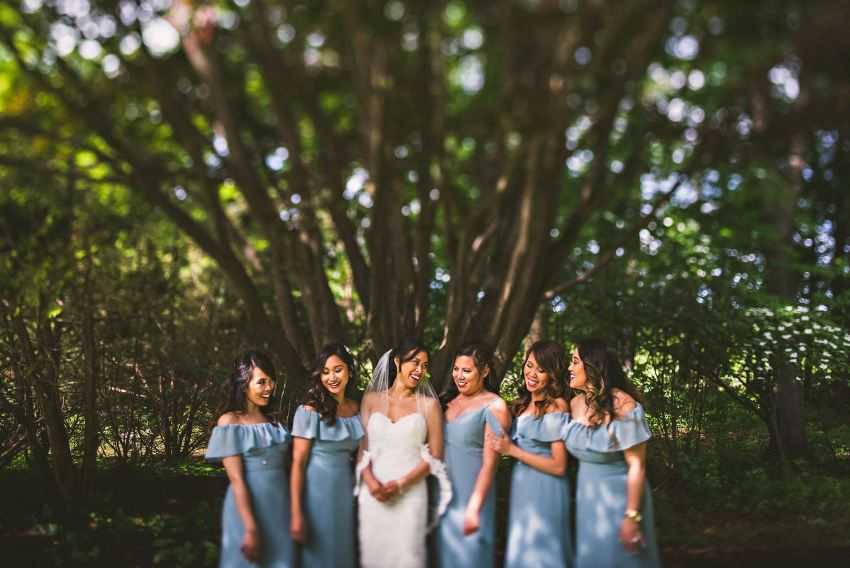 Bridesmaids at Smith Barn