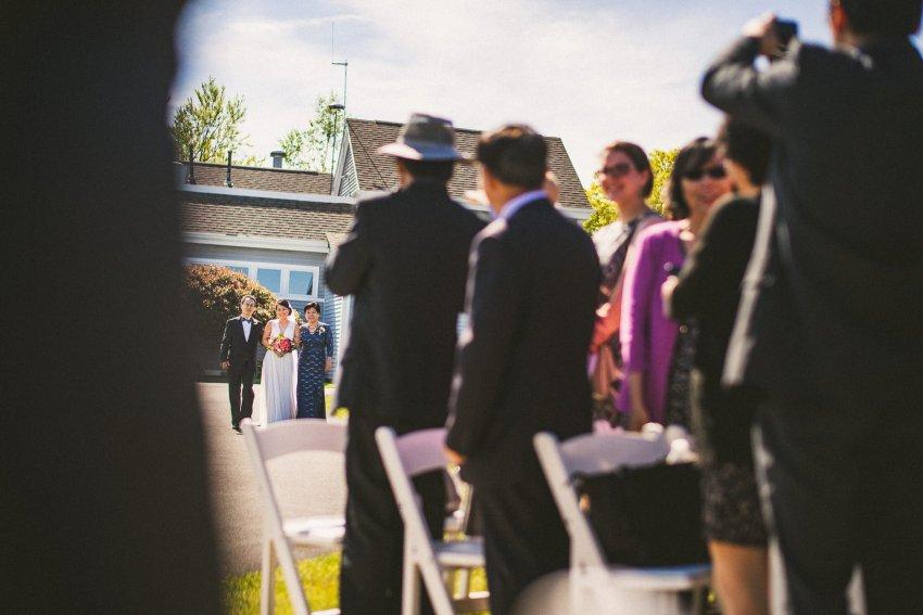 Whitecliffs wedding ceremony