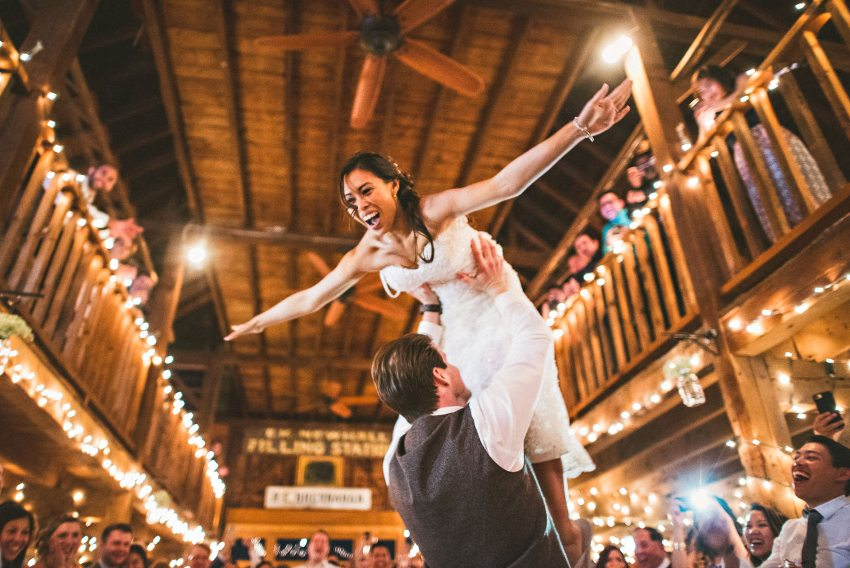 bride and groom dirty dancing scene