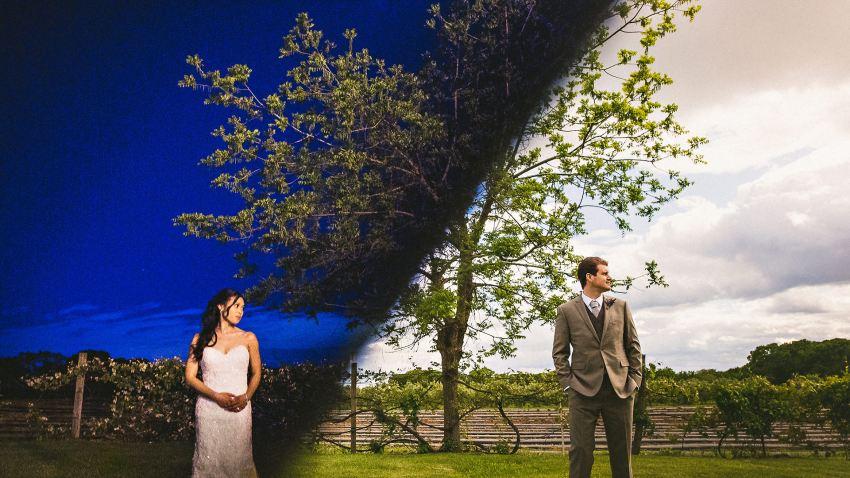 Creative Peabody wedding portrait