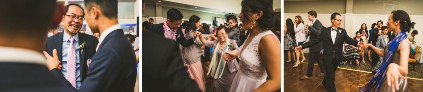 Wedding family members dancing