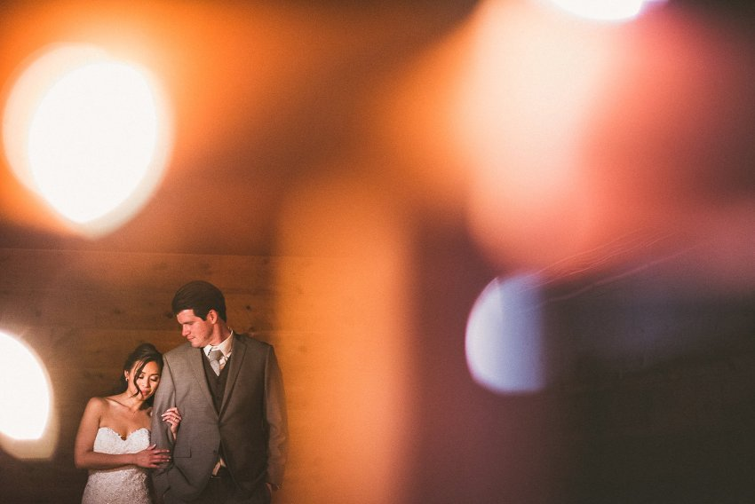 Brooksby Farm wedding night portrait