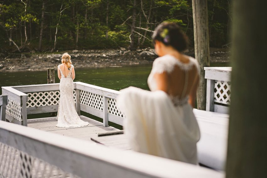 Maine same sex wedding first look