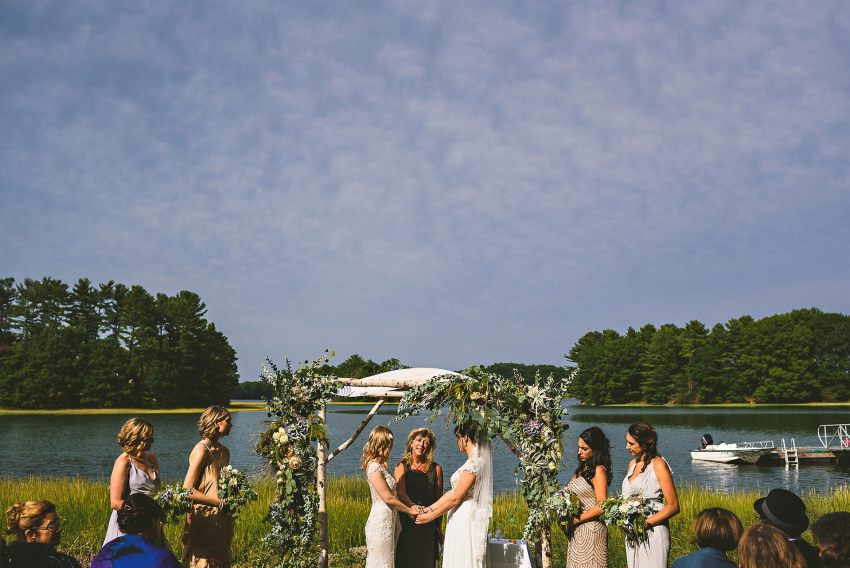 Kittery backyard wedding ceremony