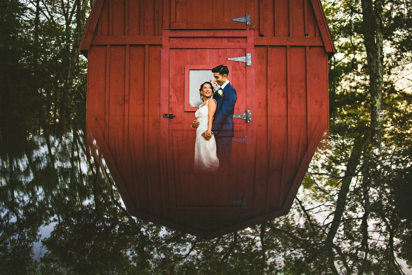 Creative wedding picture in Rhode Island