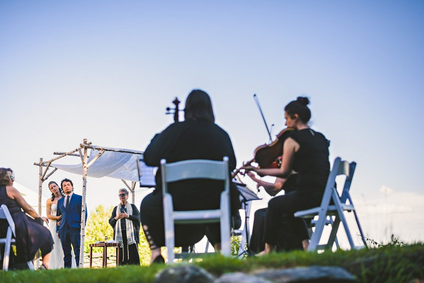 String performance at wedding