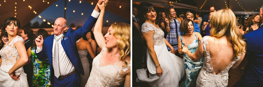 Fun Kittery backyard wedding reception