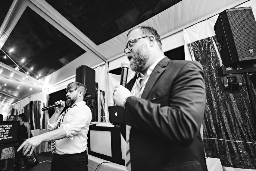 Tanglewood wedding karaoke