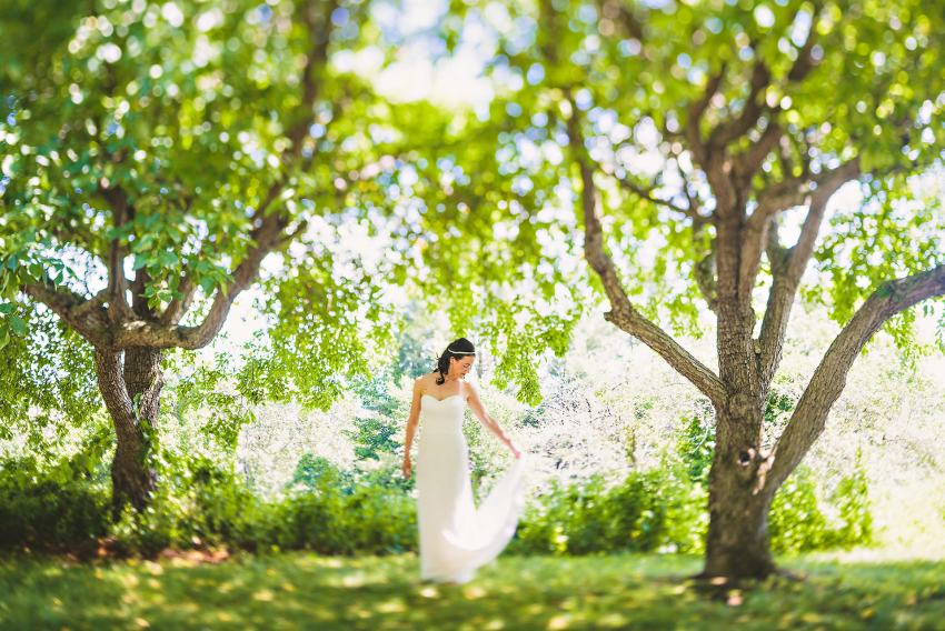 Bridal portraits at Tanglewood