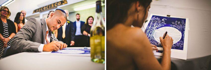 Jewish Ketubah signing ceremony in Portland