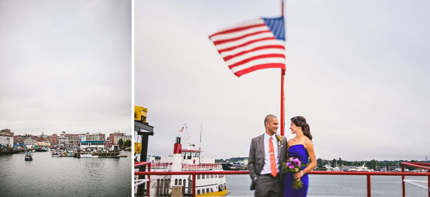 Portland boat wedding portraits