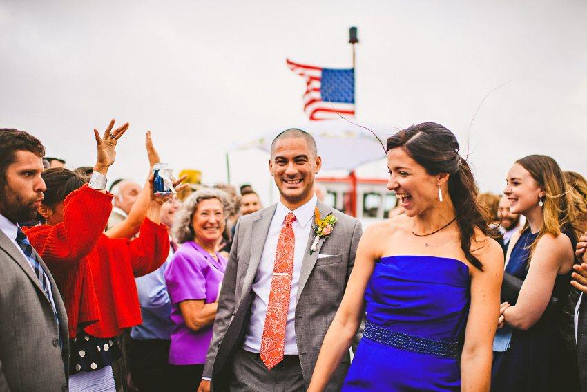 Portland boat wedding recessional