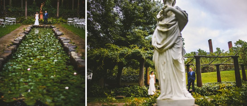 Codman Estate Italian Garden wedding portraits