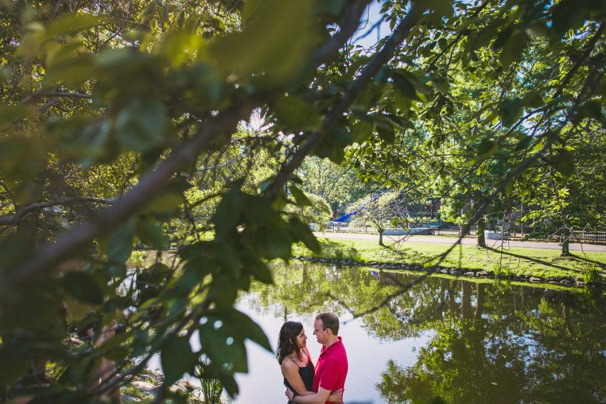 Charles River engagement photography