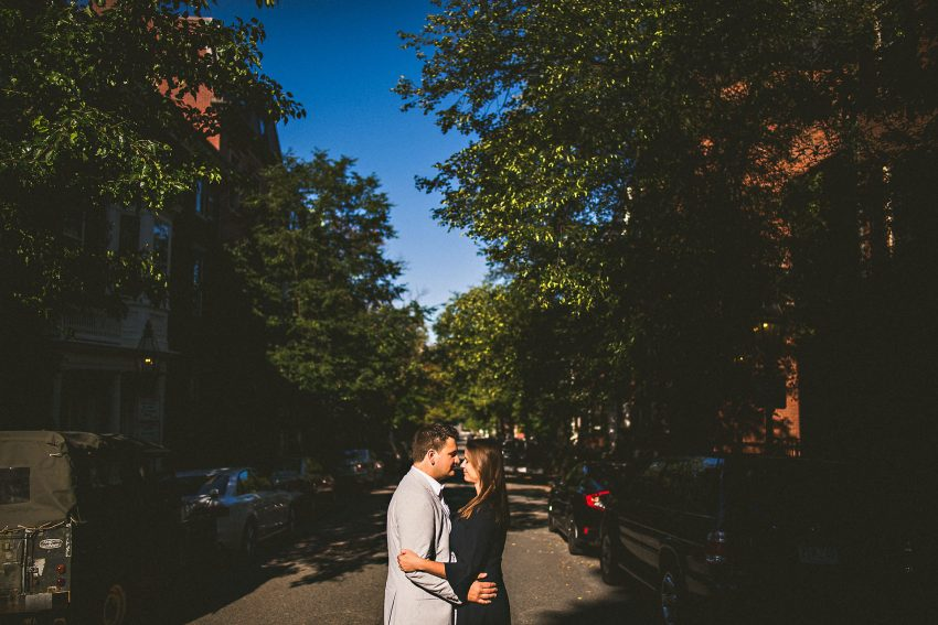 Beacon Hill street engagement photo