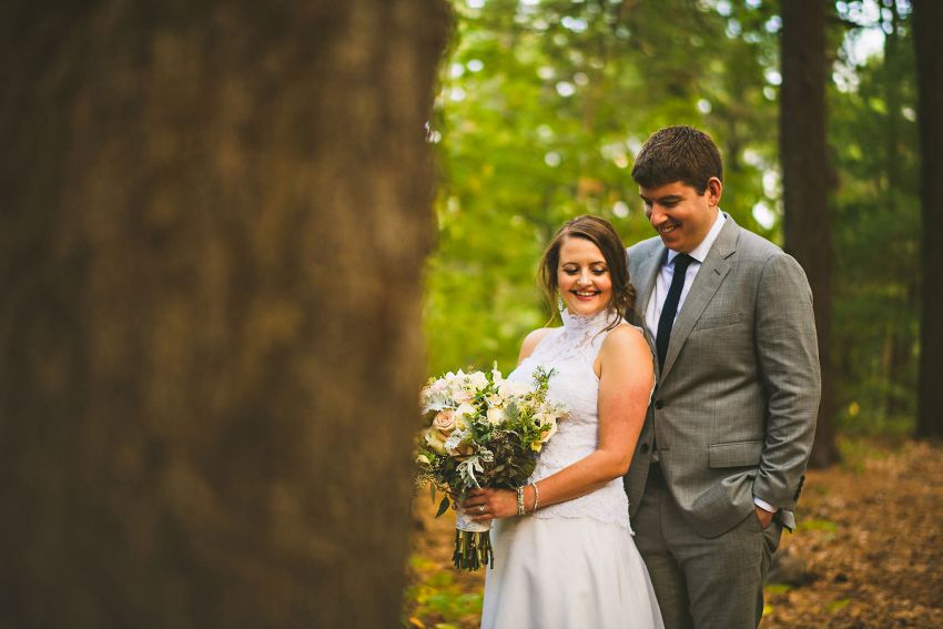 Beautiful woodsy wedding